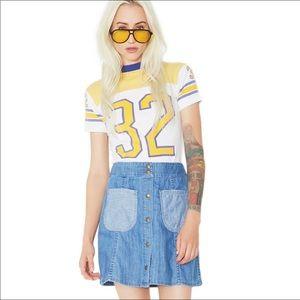 Wildfox Frankie Denim Mini Skirt Small NWT